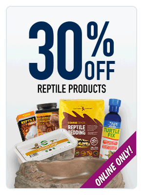 30% OFF reptile products