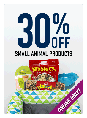 30% OFF small animal products
