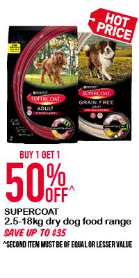 3.5-18kg Supercoat Dry Dog Food Range - Buy 1 Get 1 50% Off!