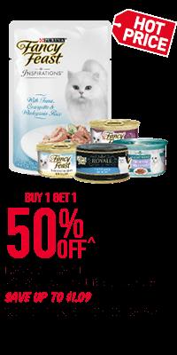 Fancy Feast Wet Cat Food Range - Buy 1 Get 1 50% Off!