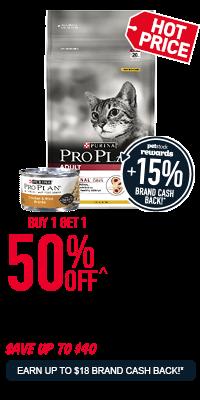 Pro Plan Super Premium Cat Food Range - Buy 1 Get 1 50% Off!