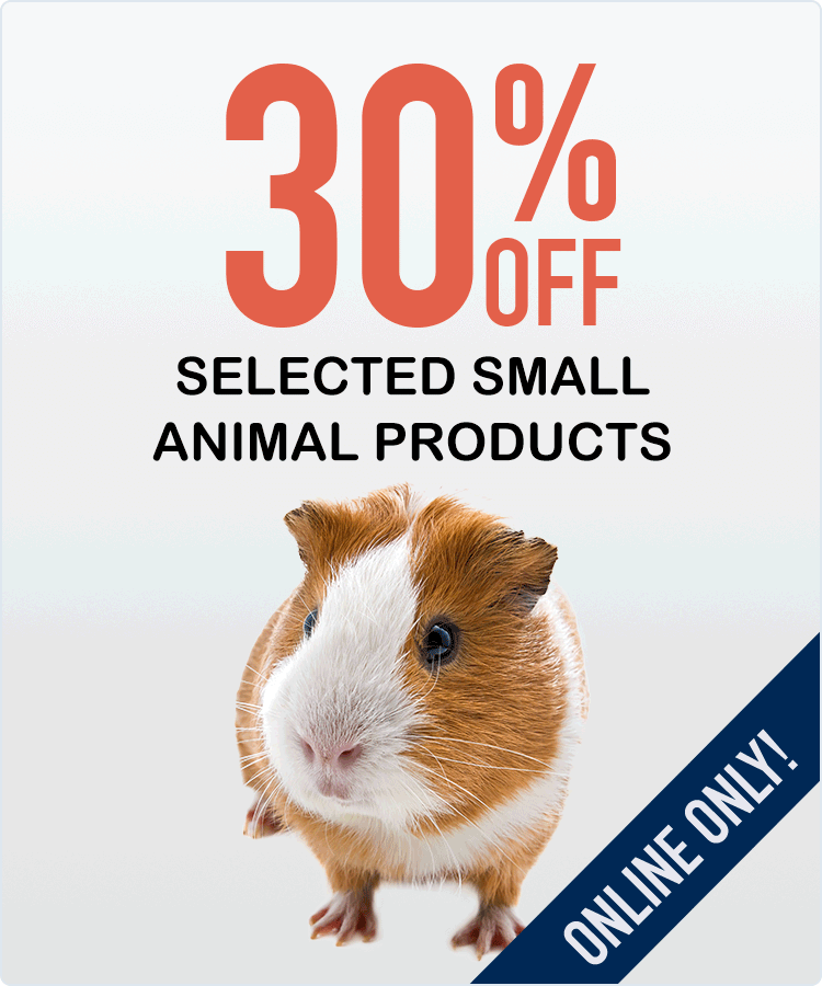 30% Off Small Animal Products!