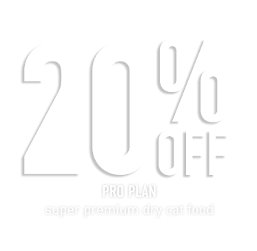 20% Off - Pro Plan super premium dry cat food. From $19.99ea. Save up to $16. Earn up to $9.60 Brand Cash Back!* Click here to shop now!