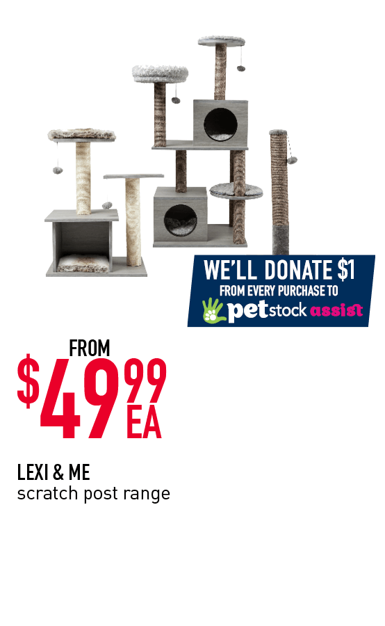 LEXI & ME scratch post range - From $49.99ea