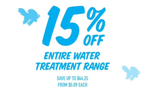 15% Off - Entire Water Treatment Range. Save up to $44.25. From $5.09ea. Click here to shop now!