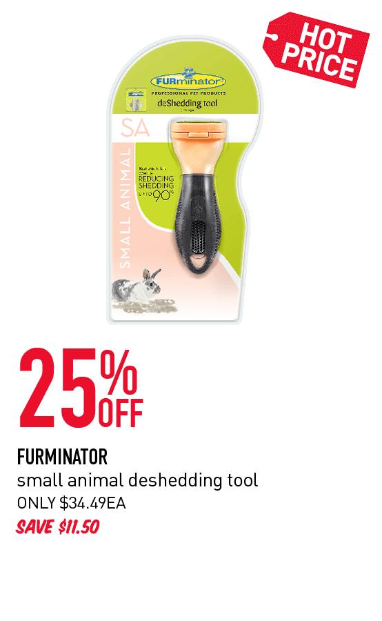 25 % OFF FURMINATOR small animal deshedding tool