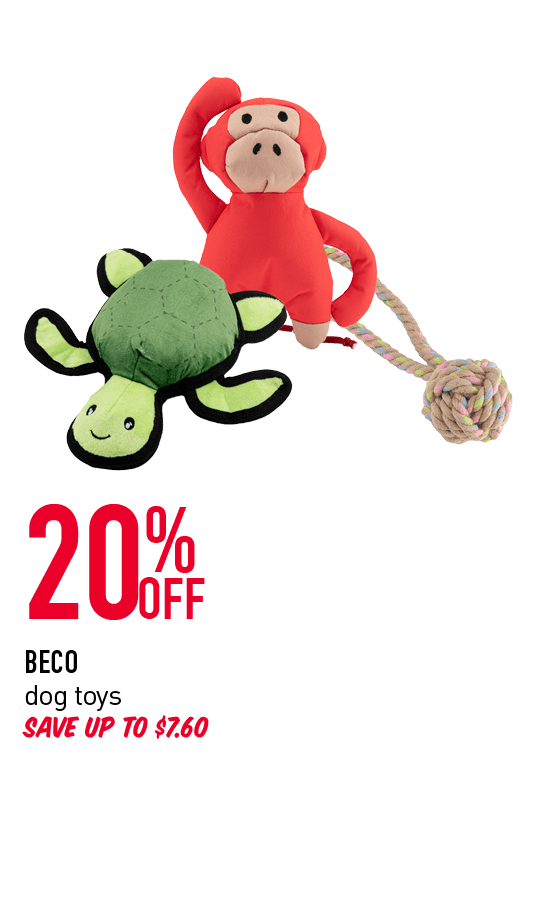 20% Off - Beco dog toys. Save up to $7.60. Click here to shop now!