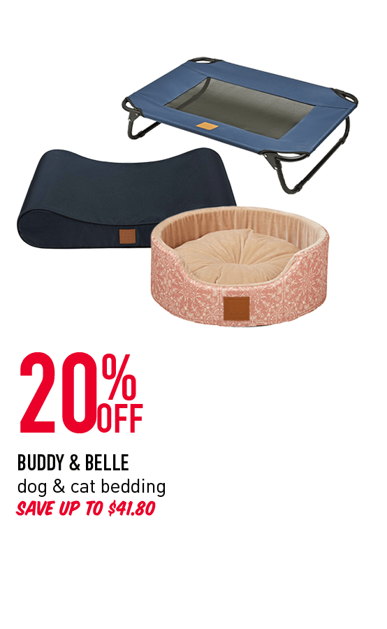 20% Off - Buddy & Belle dog & cat bedding. Save u to $41.80. Click here to shop now!